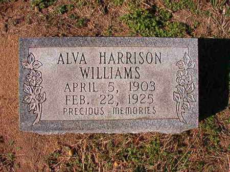 HARRISON WILLIAMS, ALVA - Dallas County, Arkansas | ALVA HARRISON WILLIAMS - Arkansas Gravestone Photos