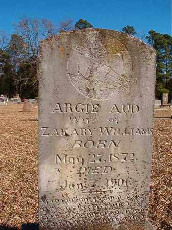 AUD WILLIAMS, ARGIE - Dallas County, Arkansas | ARGIE AUD WILLIAMS - Arkansas Gravestone Photos