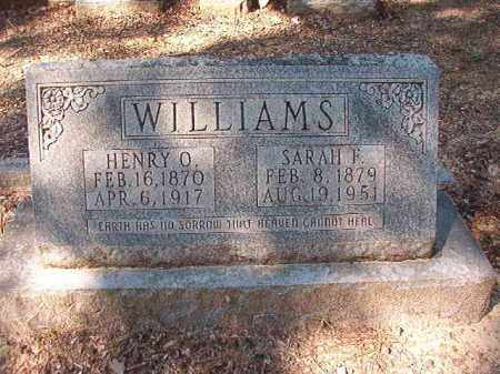 WILLIAMS, SARAH F - Dallas County, Arkansas | SARAH F WILLIAMS - Arkansas Gravestone Photos