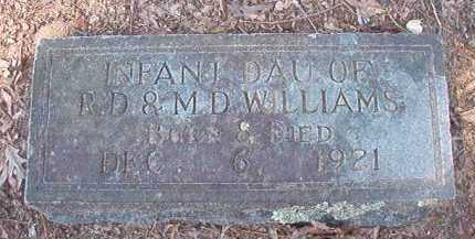 WILLIAMS, INFANT DAUGHTER - Dallas County, Arkansas | INFANT DAUGHTER WILLIAMS - Arkansas Gravestone Photos