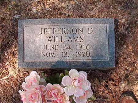 WILLIAMS, JEFFERSON D - Dallas County, Arkansas | JEFFERSON D WILLIAMS - Arkansas Gravestone Photos