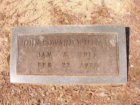 WILLIAMS, JOHN EDWARD - Dallas County, Arkansas | JOHN EDWARD WILLIAMS - Arkansas Gravestone Photos