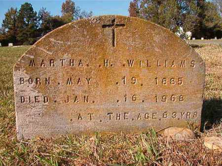 WILLIAMS, MARTHA H - Dallas County, Arkansas | MARTHA H WILLIAMS - Arkansas Gravestone Photos