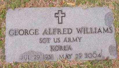 WILLIAMS (VETERAN KOR), GEORGE ALFRED - Dallas County, Arkansas | GEORGE ALFRED WILLIAMS (VETERAN KOR) - Arkansas Gravestone Photos