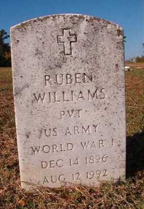 WILLIAMS (VETERAN WWI), RUBEN - Dallas County, Arkansas | RUBEN WILLIAMS (VETERAN WWI) - Arkansas Gravestone Photos