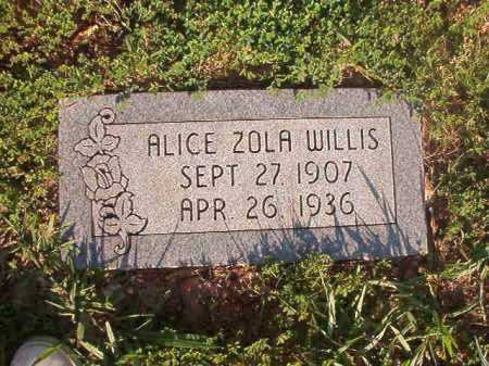 WILLIS, ALICE ZOLA - Dallas County, Arkansas | ALICE ZOLA WILLIS - Arkansas Gravestone Photos
