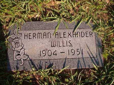 WILLIS, HERMAN ALEXANDER - Dallas County, Arkansas | HERMAN ALEXANDER WILLIS - Arkansas Gravestone Photos