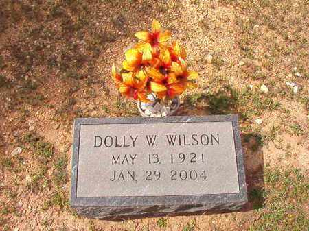 WILSON, DOLLY W - Dallas County, Arkansas | DOLLY W WILSON - Arkansas Gravestone Photos