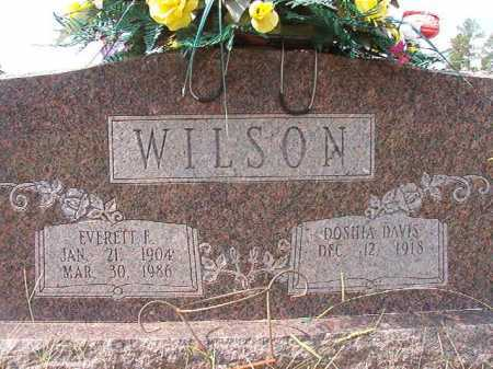 WILSON, EVERETT F - Dallas County, Arkansas | EVERETT F WILSON - Arkansas Gravestone Photos