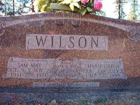 GREEN WILSON, MARIE - Dallas County, Arkansas | MARIE GREEN WILSON - Arkansas Gravestone Photos
