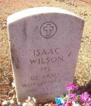 WILSON (VETERAN WWII), ISAAC - Dallas County, Arkansas   ISAAC WILSON (VETERAN WWII) - Arkansas Gravestone Photos