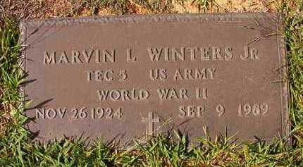 WINTERS, JR (VETERAN WWII), MARVIN L - Dallas County, Arkansas | MARVIN L WINTERS, JR (VETERAN WWII) - Arkansas Gravestone Photos