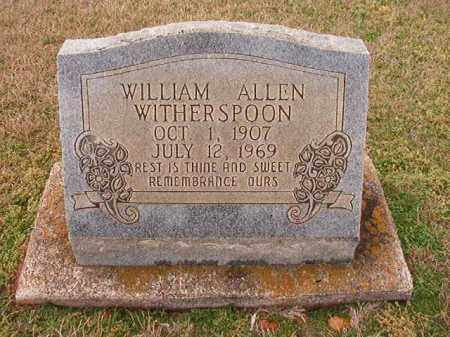 WITHERSPOON, WILLIAM ALLEN - Dallas County, Arkansas | WILLIAM ALLEN WITHERSPOON - Arkansas Gravestone Photos