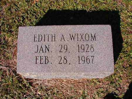 WIXOM, EDITH A - Dallas County, Arkansas | EDITH A WIXOM - Arkansas Gravestone Photos