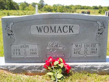 WOMACK, ANDY - Dallas County, Arkansas | ANDY WOMACK - Arkansas Gravestone Photos