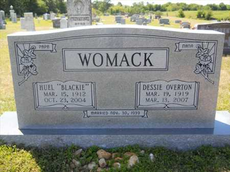 OVERTON WOMACK, DESSIE - Dallas County, Arkansas | DESSIE OVERTON WOMACK - Arkansas Gravestone Photos