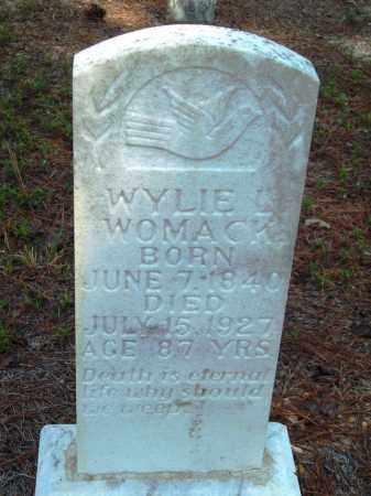 WOMACK, WYLIE L - Dallas County, Arkansas | WYLIE L WOMACK - Arkansas Gravestone Photos