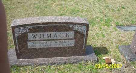 WOMACK, WILLIAM H (HUEL) - Dallas County, Arkansas | WILLIAM H (HUEL) WOMACK - Arkansas Gravestone Photos