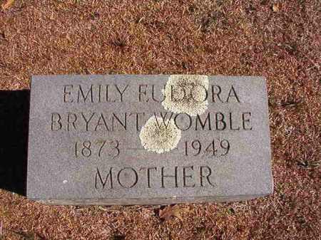 BRYANT WOMBLE, EMILY EUDORA - Dallas County, Arkansas | EMILY EUDORA BRYANT WOMBLE - Arkansas Gravestone Photos