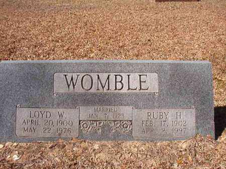 WOMBLE, RUBY H - Dallas County, Arkansas | RUBY H WOMBLE - Arkansas Gravestone Photos