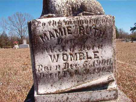 WOMBLE, MAMIE RUTH - Dallas County, Arkansas | MAMIE RUTH WOMBLE - Arkansas Gravestone Photos
