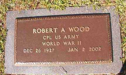 WOOD (VETERAN WWII), ROBERT A - Dallas County, Arkansas | ROBERT A WOOD (VETERAN WWII) - Arkansas Gravestone Photos