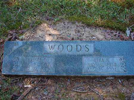 WOODS, CARROLL D - Dallas County, Arkansas | CARROLL D WOODS - Arkansas Gravestone Photos