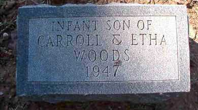 WOODS, INFANT SON - Dallas County, Arkansas | INFANT SON WOODS - Arkansas Gravestone Photos