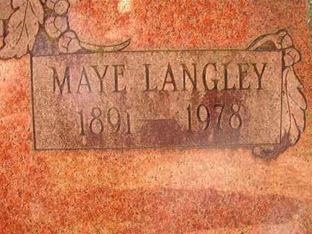 LANGLEY WOODS, MAYE - Dallas County, Arkansas | MAYE LANGLEY WOODS - Arkansas Gravestone Photos