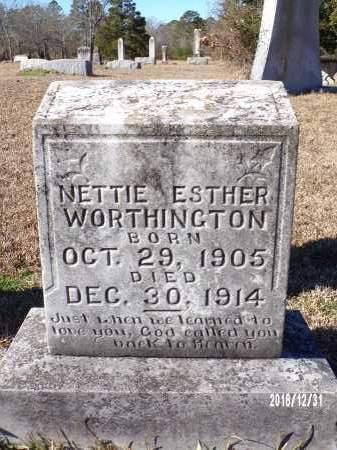 WORTHINGTON, NETTIE ESTHER - Dallas County, Arkansas | NETTIE ESTHER WORTHINGTON - Arkansas Gravestone Photos