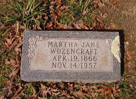 WOZENCRAFT, MARTHA JANE - Dallas County, Arkansas | MARTHA JANE WOZENCRAFT - Arkansas Gravestone Photos