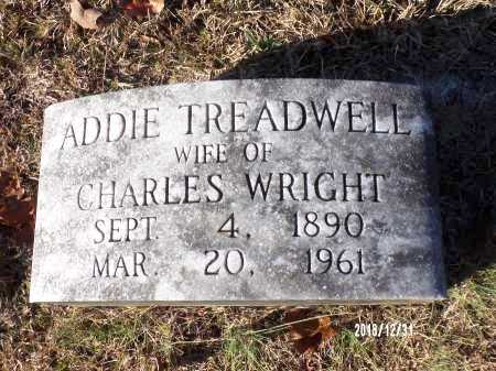 TREADWELL WRIGHT, ADDIE - Dallas County, Arkansas | ADDIE TREADWELL WRIGHT - Arkansas Gravestone Photos