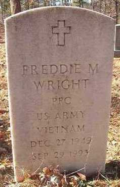 WRIGHT (VETERAN VIET), FREDDIE M - Dallas County, Arkansas | FREDDIE M WRIGHT (VETERAN VIET) - Arkansas Gravestone Photos