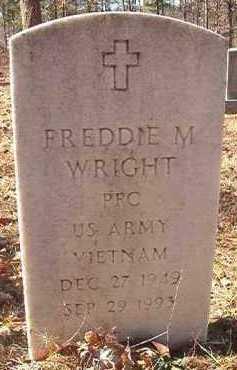 WRIGHT (VETERAN VIET), FREDDIE M - Dallas County, Arkansas   FREDDIE M WRIGHT (VETERAN VIET) - Arkansas Gravestone Photos