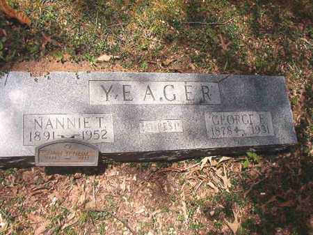 YEAGER, NANNIE T - Dallas County, Arkansas | NANNIE T YEAGER - Arkansas Gravestone Photos
