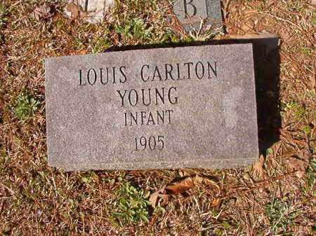 YOUNG, LOUIS CARLTON - Dallas County, Arkansas | LOUIS CARLTON YOUNG - Arkansas Gravestone Photos
