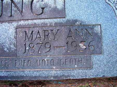 YOUNG, MARY ANN - Dallas County, Arkansas | MARY ANN YOUNG - Arkansas Gravestone Photos
