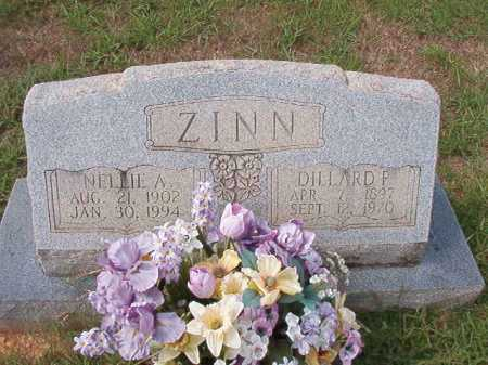 ZINN, NELLIE A - Dallas County, Arkansas | NELLIE A ZINN - Arkansas Gravestone Photos