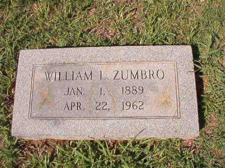ZUMBRO, WILLIAM L - Dallas County, Arkansas | WILLIAM L ZUMBRO - Arkansas Gravestone Photos
