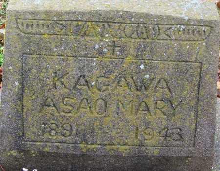 KAGAWA, ASAO MARY - Desha County, Arkansas | ASAO MARY KAGAWA - Arkansas Gravestone Photos
