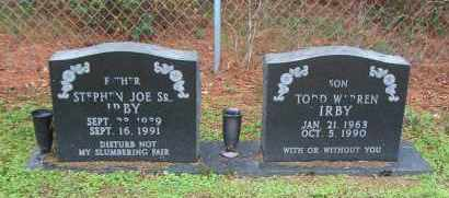IRBY, SR., STEPHEN JOE - Desha County, Arkansas | STEPHEN JOE IRBY, SR. - Arkansas Gravestone Photos
