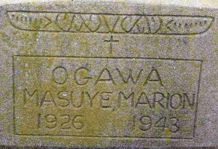 OGAWA, MASUYE MARION - Desha County, Arkansas | MASUYE MARION OGAWA - Arkansas Gravestone Photos