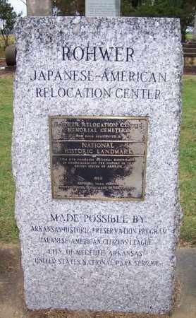 *ROHWER CENTER, HISTORICAL MARKER - Desha County, Arkansas   HISTORICAL MARKER *ROHWER CENTER - Arkansas Gravestone Photos