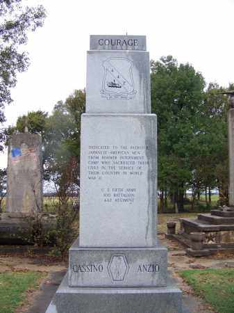 *ROHWER CENTER, MONUMENT TO JAPANESE US SOLDIERS - Desha County, Arkansas | MONUMENT TO JAPANESE US SOLDIERS *ROHWER CENTER - Arkansas Gravestone Photos