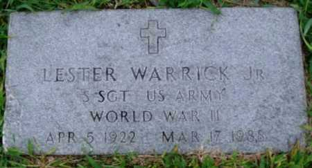 WARRICK, JR  (VETERAN WWII), LESTER - Desha County, Arkansas | LESTER WARRICK, JR  (VETERAN WWII) - Arkansas Gravestone Photos