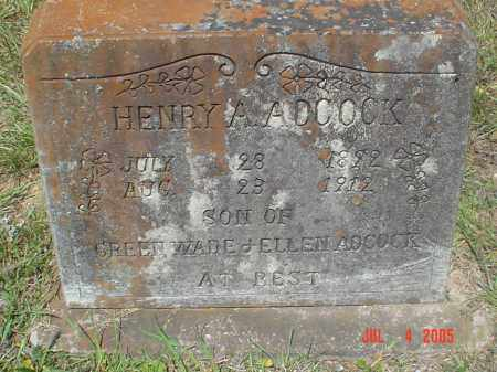 ADCOCK (VETERAN CSA), HENRY ALFRED - Drew County, Arkansas | HENRY ALFRED ADCOCK (VETERAN CSA) - Arkansas Gravestone Photos