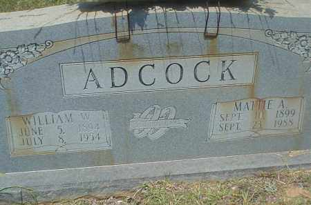 ADCOCK, (MATTIE) MARTHA ANN - Drew County, Arkansas | (MATTIE) MARTHA ANN ADCOCK - Arkansas Gravestone Photos