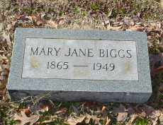 COTHAM BIGGS, MARY JANE - Drew County, Arkansas | MARY JANE COTHAM BIGGS - Arkansas Gravestone Photos