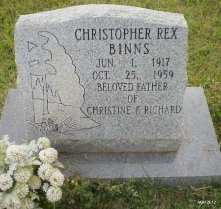 BINNS, CHRISTOPHER REX - Drew County, Arkansas | CHRISTOPHER REX BINNS - Arkansas Gravestone Photos