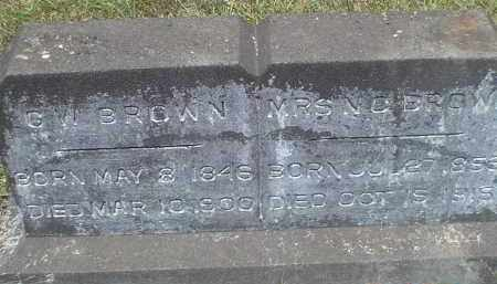 BROWN, NANCY CAROLINE - Drew County, Arkansas | NANCY CAROLINE BROWN - Arkansas Gravestone Photos